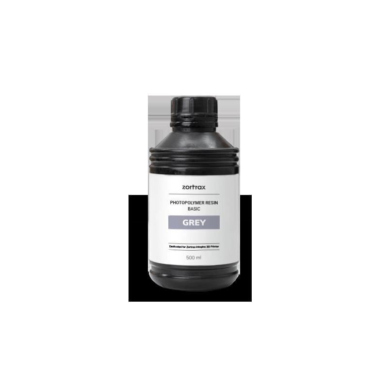 Résine grise - Zortrax Basic - 500 ml - Inkspire