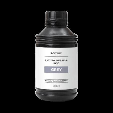 Graues Harz - Zortrax Basic - 500 ml - Inkspire