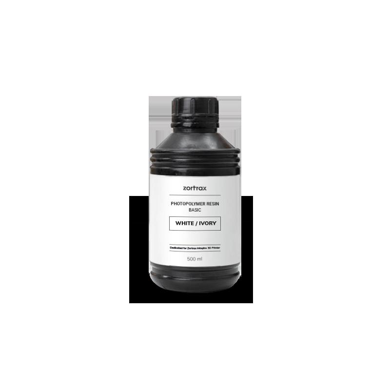 Witte hars - Zortrax Basic - 500 ml - Inkspire