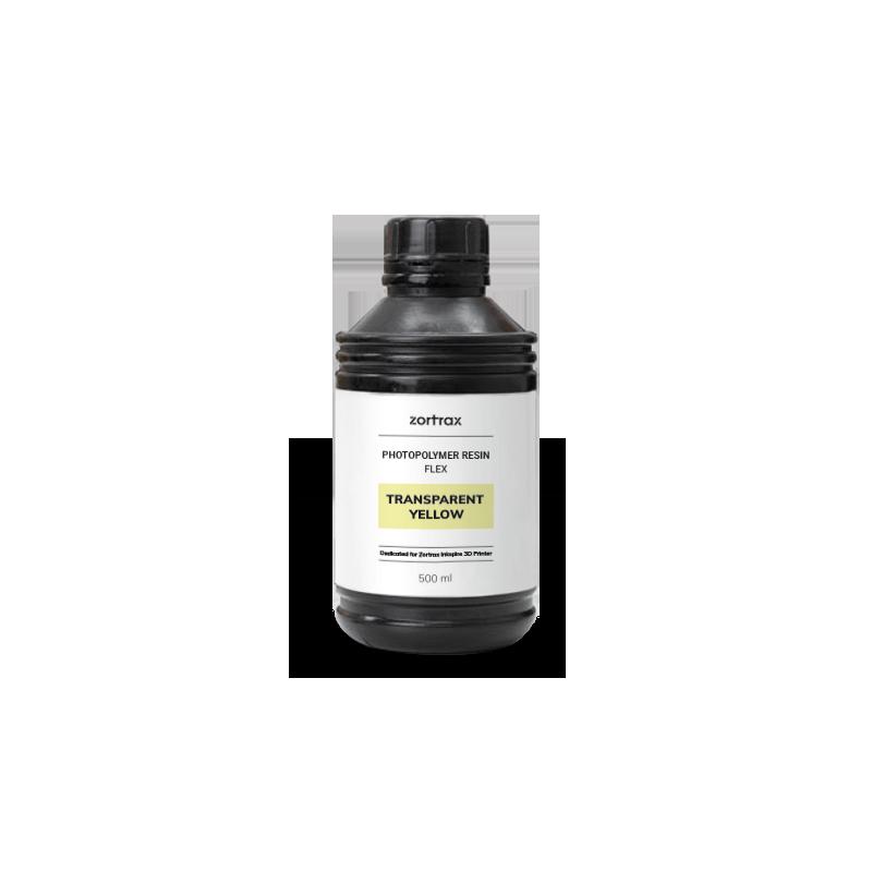 Résine flexible - 500 ml - Jaune transparent - Zortrax